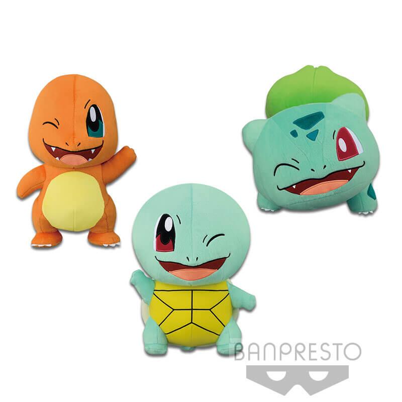 banpresto pokemon sun moon 1st gen starter pokemon big plush ebay