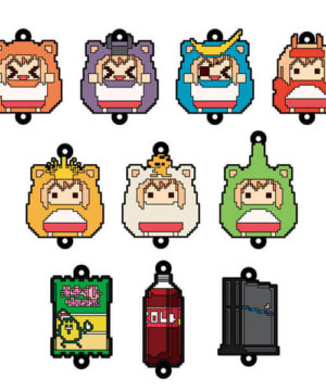 Himouto Umaru-chan R Dot Picture Trading Rubber Keychain