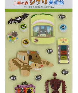 Studio Ghibli Museum Craft Seal 3D Stickers