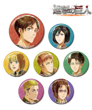 Attack on Titan Trading Ani-Art Can Badge Vol 2