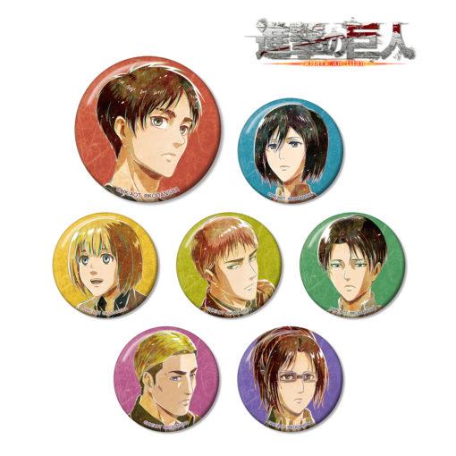 Attack on Titan Trading Ani-Art Can Badge Vol 2
