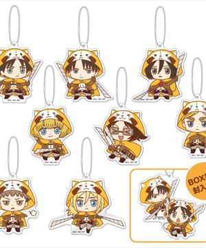Rascal the Raccoon x Attack on Titan - Large Trading Acrylic Key Chain