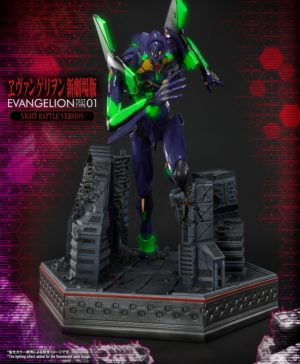 Regular Artificial Human Evangelion EVA-01 Statue Night Battle Ver