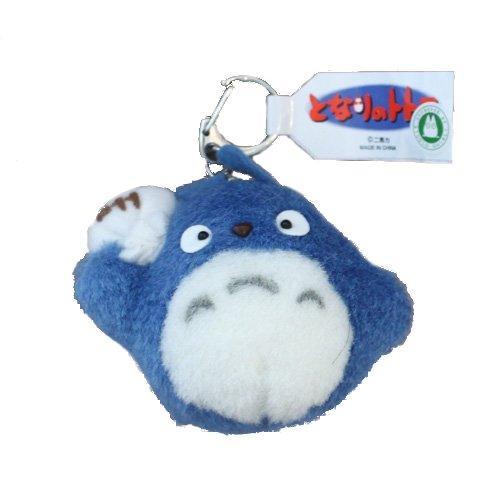 Blue Totoro Medium Plush Keychain