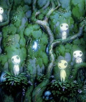 Princess Mononoke - Kodama Museum Collection A6 Postcard