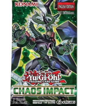 YU-GI-OH! TCG Chaos Impact 9 x card Booster