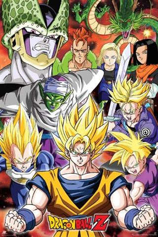 Dragon Ball Z Cell Saga Poster