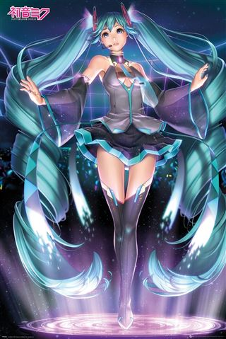 Hatsune Miku Projection Poster