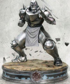 Fullmetal Alchemist Alphonse Elric Silver Statue
