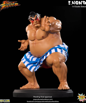 Street Fighter E Honda Statue