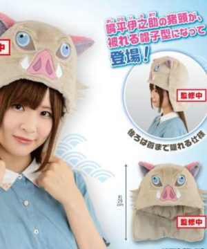 Inosuke Hashibira Boar Head Hoodie