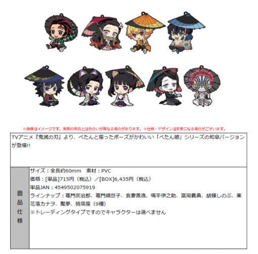 """Demon Slayer: Kimetsu no Yaiba"" Petanko Trading Rubber Strap -Japanese Umbrella-"
