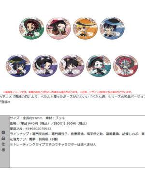 """Demon Slayer: Kimetsu no Yaiba"" Petanko Trading Can Badge -Japanese Umbrella-"