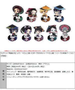 """Demon Slayer: Kimetsu no Yaiba"" Petanko Trading Acrylic Stand -Japanese Umbrella-"