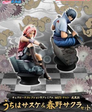 MegaHouse Sakura and Sasuke Chess Piece Collection